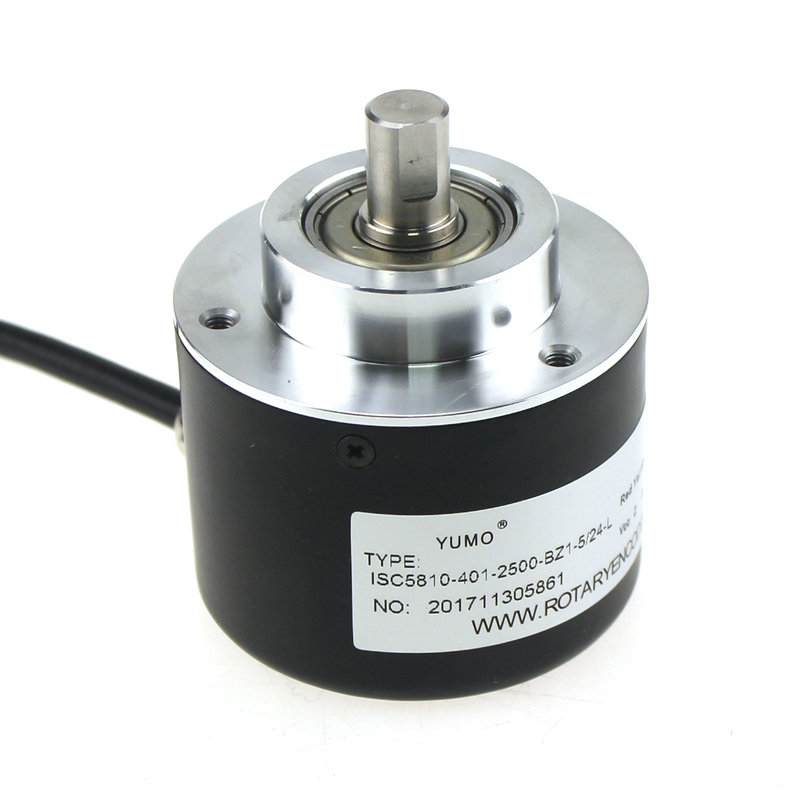 ISC5810-401-2500-BZ1-524-L Outer diameter 58mm Solid Shaft Incremental Optical Rotary Encoder