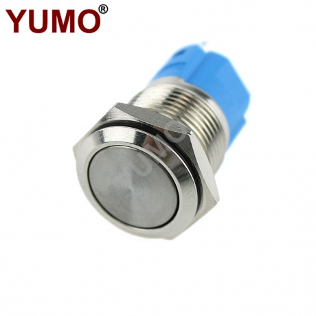 ABS16S 16mm 250VAC1NO 1NC Metal Maintained Push Button Switch